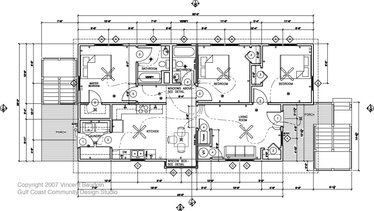 Running around southern live oak Architectural house plan styles