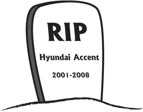 RIP Hyundai Accent