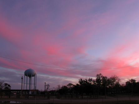 Sunset over O'Reilly Park, Biloxi, Mississippi