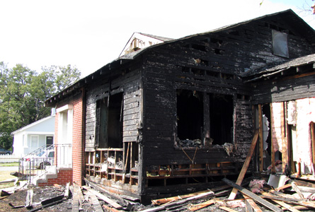 The house next door to ours burned this morning.