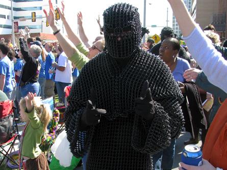 Mardi Gras ninja.